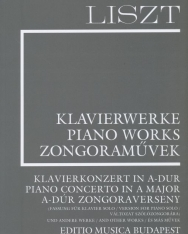 Liszt Ferenc: A-dúr zongoraverseny változat szólózongorára (Supplement 15.) fűzve
