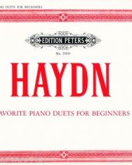 Joseph Haydn: Favorite Piano Duets for Beginners - 4 kezes