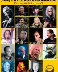Jazz, pop, rock gitárszólók - Kotta + gitár TAB + CD