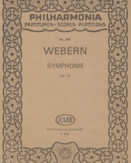 Anton Webern: Symphonie - kispartitúra