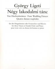 Ligeti György: Négy lakodalmi tánc nőikarra, zongorakísérettel