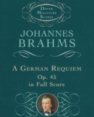 Johannes Brahms: Ein Deutsches Requiem - kispartitúra