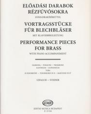 Előadási darabok rézfúvósokra zongorakísérettel (harsona, tuba, tenorkürt, bariton, eufónium)