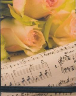 Jegyzetfüzet - kotta+rózsa (A7 méret)