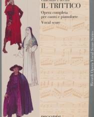 Giacomo Puccini: Il Trittico - zongorakivonat (angol, olasz)