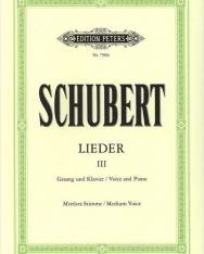 Franz Schubert: Lieder III. mittlere