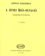 Szőnyi Erzsébet: Zenei írás-olvasás gyakorlófüzete 3.