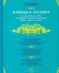 Czidra László: Barokk etűdök szopránfurulyára (fuvolára, oboára vagy hegedűre)