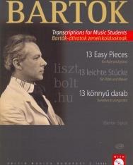Bartók Béla: 13 könnyű darab fuvolára és zongorára + CD