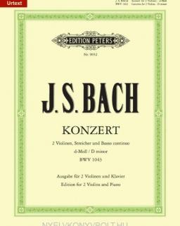 Johann Sebastian Bach: Doppelkonzert BWV 1043 - 2 hegedűre, zongorakísérettel