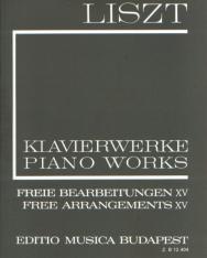 Liszt Ferenc: Freie Bearbeitungen 15. (fűzött)