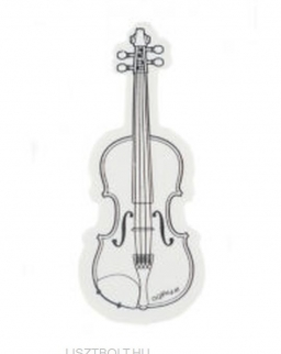Radír - fehér, hegedű alakú