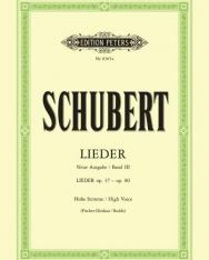 Franz Schubert: Lieder III. hohe (neue Ausgabe)