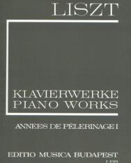 Liszt Ferenc: Années de Pelerinage 1. (fűzött)