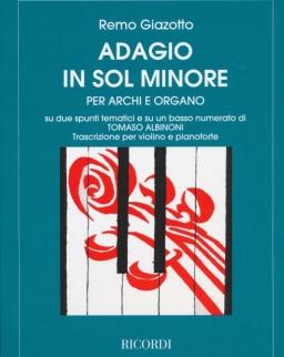 Remo Giazotto - Tomaso Albinoni: Adagio - hegedű & zongora