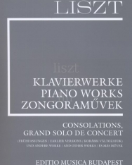 Liszt Ferenc: Consolations, Grand Solo de Concert (Supplement 10.) fűzve