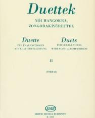 Forrai Miklós: Duettek női hangokra II.