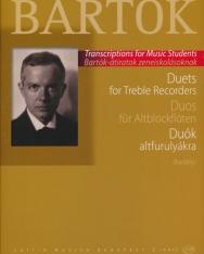 Bartók Béla: Duók altfurulyákra