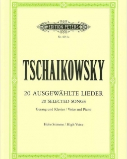 Pyotr Ilyich Tchaikovsky: Lieder - hohe stimme