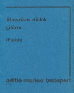 Puskás Tibor: Klasszikus etűdök gitárra