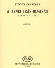 Szőnyi Erzsébet: Zenei írás-olvasás gyakorlófüzete 4.