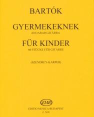 Bartók Béla: Gyermekeknek gitárra