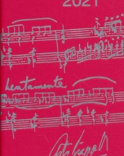 Music Diary 2021 (piros)