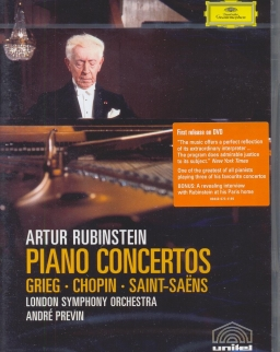 Arthur Rubinstein plays Grieg, Chopin, Saint-Saens Piano concertos DVD
