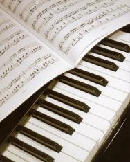 Képeslap - zongora