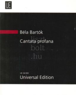 Bartók Béla: Cantata profana kispartitúra