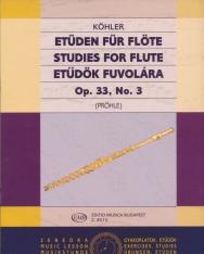 Ernesto Köhler: Etűdök fuvolára op. 33. 3.