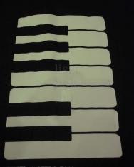 Fekete, zongorabillentyűs, hosszúfülű pamut táska