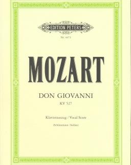 Wolfgang Amadeus Mozart: Don Giovanni zongorakivonat (német,olasz)