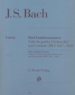 Johann Sebastian Bach: Three Gamba Sonatas for Viola da gamba and Piano (edition for Violoncello)