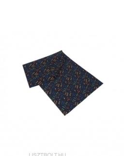 Sál - fekete, színes hangjegyes, selyem (25*50 cm)
