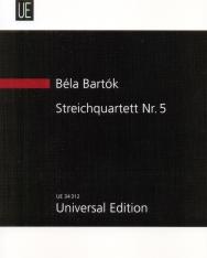 Bartók Béla: String Quartet No. 5 kispartitúra