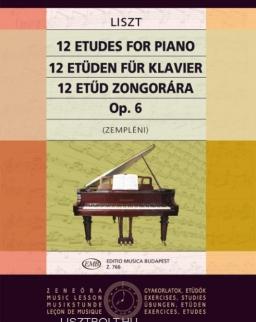 Liszt Ferenc: 12 etűd zongorára op.6