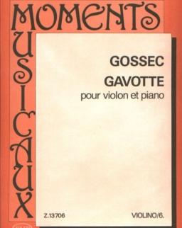 François-Joseph Gossec: Gavotte hegedűre, zongorakísérettel