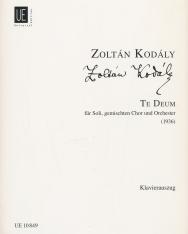 Kodály Zoltán: Te deum - zongorakivonat