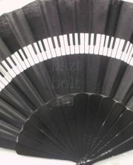 Legyező - fekete, klaviatúrás