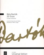 Bartók Béla: 20 Duó - fuvolára és klarinétra