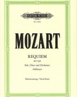 Wolfgang Amadeus Mozart: Requiem zongorakivonat (Urtext, Süssmayer)