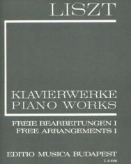Liszt Ferenc: Freie Bearbeitungen 1. (fűzött)