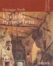 Giuseppe Verdi: Un ballo in maschera - partitúra (olasz)