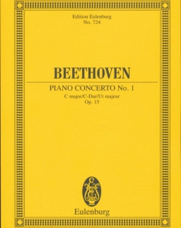 Ludwig van Beethoven: Concerto for piano Nr. 1 - kispartitúra