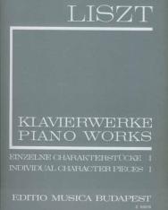 Liszt Ferenc: Einzelne Charakterstücke 1. (fűzött)