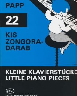 Papp Lajos: 22 kis zongoradarab