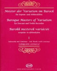 Barokk mesterek variációi 1. - furulyára, zongorakísérettel
