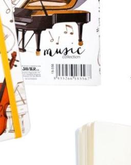 Jegyzetfüzet - gumis, hangszeres