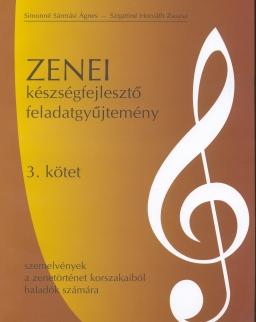 Zenei készségfejlesztő feladatok 3. - Szemelvények a zenetörténet korszakaiból haladók számára